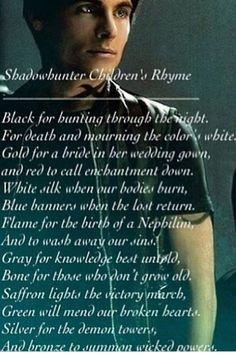 Shadow hunter children's rhyme