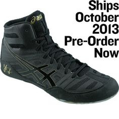 all black asics wrestling shoes