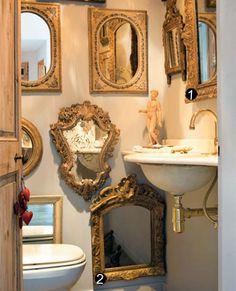 Medicine cabinet and Mirror Vintage Bathroom by bluejeanjulie ...