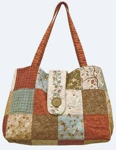 This roomy patchwork bag is fat quarter friendly and quick and easy to make.