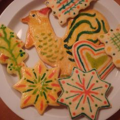 Paintbrush Cookies Redux My teen Granddaughters love to paint these! Gigis and Poppys love to eat these pretty and buttery cookies that have NO frosting! Paint Cookies, Roll Cookies, Cute Cookies, Yummy Cookies, Christmas Dishes, Christmas Baking, Christmas Cookies, Christmas Treats, Holiday Treats