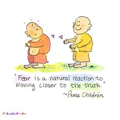"""Fear is a natural reaction to moving closer to the truth."" ~Pema Chodron 
