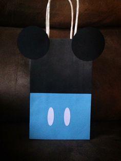 Mickey birthday party favor bag