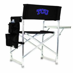 Introducing NCAA Texas Christian Horned Frogs Portable Folding Sports Chair Black. Great Product and follow us to get more updates!