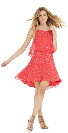 Ali Ro Becka flirty dress with bright fashion forward dots