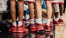 """Adidas-Branded shoes and socks abound at an adidas gauntlet tournament in new york, part of the german apparel company's """"grassroots"""" efforts. White Basketball Shoes, Basketball Hoop, Walpaper Black, Nike Shoes Outfits, Sport Chic, Happy Women, Elite Socks, Sport Man, Clothing Company"""
