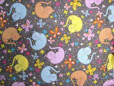 Tissu Chats - Chats stylisés - Tissu enfants - Tissu Windham Fabrics : Tissus Habillement, Déco par boutons29