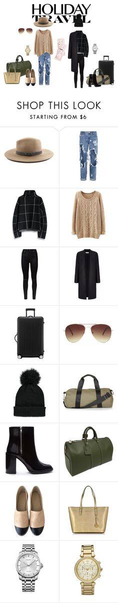 """""""Holiday Travel"""" by bigdaddytaryn ❤ liked on Polyvore featuring moda, rag & bone, One Teaspoon, Chicwish, 7 For All Mankind, Rimowa, Forever 21, Topshop, Louis Vuitton e Chanel"""
