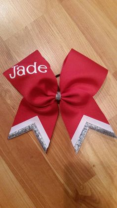 Custom cheer bows personalized with name by CurlyNoodleCreations
