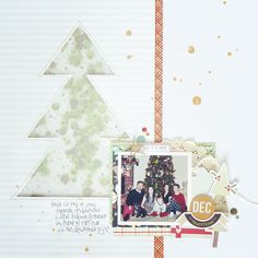"""Created a layout of one of my favorite Christmas traditions for product spotlight at @paperissues. Merry and Bright from @fancypantsdesigns is the perfect collection for all your Holiday crafting needs, you can get it  b the @paperissues shop for 20% off using my code """"amy20"""". #scrapbook #scrapbooking #scrapbooklayout #christmascrafts"""