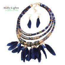 2017 mujeres de bohemia del collar y colgantes de plumas negro declaración choker collar za antiguo tribal boho étnico noir mujer bijoux(China (Mainland))