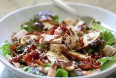 apple bacon pecan salad with garlic balsamic dressing - lauren's latest