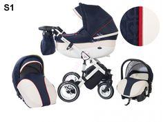 Baby Merc Style 2016 tri roky záruka www. Baby Merc, Travel System, White Leather, Baby Shop, Baby Strollers, Navy Blue, Beige, Black And White, Luxury