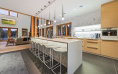 This modern kitchen makes cooking an exciting experience in the Welcome Lodge. Contemporary, Modern, Luxury, Cooking, Kitchen, Furniture, Beautiful, Home Decor, Cuisine