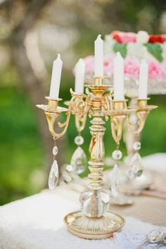 Tea party candelabra.