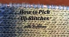 Picking up stitches is something knitters have to do in every garment they knit. We have put together a simple tutorial to help you on your way towards making a great project. Knitting Help, Knitting Videos, Knitting Stitches, Baby Knitting, Knitting Patterns, Knitting Tutorials, Up Cast, Casting On Stitches, Pick Stitch