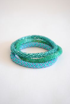 Green Lily & Laura Bracelets