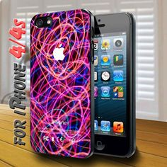 colorful lights effect - design case for iphone 4,4s   shayutiaccessories - Accessories on ArtFire