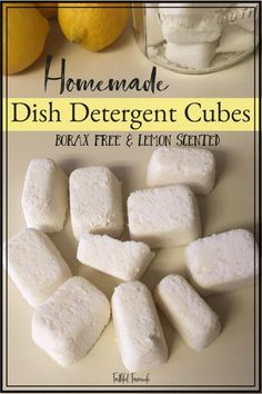 Dish Detergent Cubes Recipe Making my own cleaning supplies allows me to save money and use ingredients that aren't harsh. Check out my Simple, Safe, and Affordable Borax-Free Homemade Dish Detergent Cubes here!No Money No Money may refer to: Homemade Cleaning Supplies, Cleaning Hacks, Cleaning Solutions, Diy Home Supplies, Homemade Products, Diy Products, Cleaners Homemade, Diy Cleaners, Homemade Dish Detergent