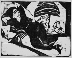 Rest (Ruhe) Alternate Title: Ruhe Volume, number, page: 2 no. 75 (1911); page 595 Ernst Ludwig Kirchner (Germany, 1880-1938) Germany, 1911 Prints; woodcuts