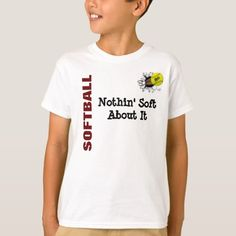 KIDS Nothin soft about softball T-Shirt sports quotes softball, softball clothing, softball coach Softball Memes, Softball Cheers, Softball Crafts, Softball Pitching, Softball Bows, Softball Coach, Softball Shirts, Softball Catcher, Coaching Volleyball