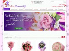 screenshot of www.onlineflowersgift.com/