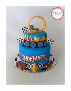 Fourth Birthday, Baby Boy Birthday, 3rd Birthday Parties, Birthday Cake, Hot Wheels Cake, Hot Wheels Party, Fondant, Festa Hot Wheels, Hot Wheels Birthday