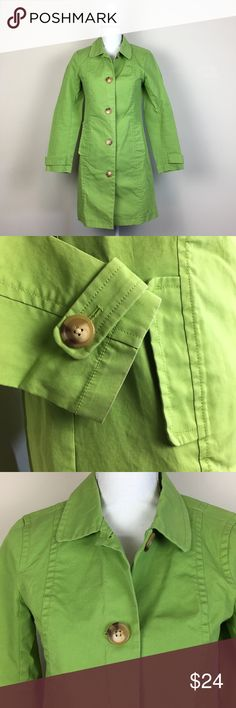 """Old Navy Women's Lime Green Trench Coat Size S Add a pop of color to your wardrobe! 🧥 Old Navy Women's Lime Green Trench Coat. 100% Cotton. Size S. Gently used condition.  Underarm to Underarm: Approx. 15"""" Top Hem to Bottom Hem: Approx. 33"""" Old Navy Jackets & Coats Trench Coats"""