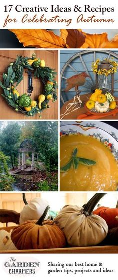 17 Creative Decor Ideas & Recipes for Celebrating Autumn - fun, festive, and delicious! #holidays