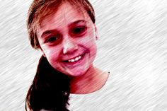 Trying a awesome affect on Photobooth with a horrible smile