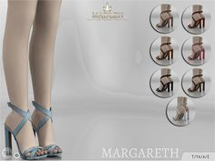 Madlen Margareth Shoes You cannot change the mesh, but feel free to recolour it as long as you add original link in the description. If you can't see this creation in CAS, please update your game. If...