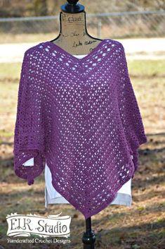 Southern Diamonds Poncho by Elk Studio Free crochet pattern, free crochet poncho pattern, #crochet, #crochetpattern #crochetponcho #ponchos #freecrochetpatterns