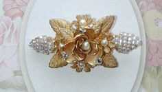 Miriam Haskell Faux Pearl Pin Brooch
