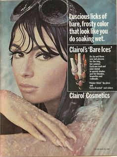 1967 clairol cosmetics ad - love the makeup