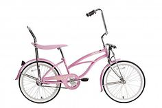 """Micargi Hero 20"""" Girls Low Rider Beach Cruiser Bicycle Pink"""