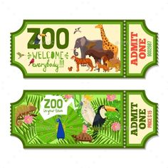 Buy Colorful Zoo Tickets With Tropical Background by macrovector on GraphicRiver. Colorful zoo tickets with tropical plants exotic birds and african animals flat vector illustration. Editable EPS and. The Zoo, Zoo Tickets, Zoo Map, Map Invitation, Tropical Background, Ticket Design, African Animals, Exotic Birds, Games