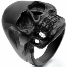 Men's Stainless Steel Big Heavy Skull Punk Biker Ring Size 9-15 Halloween Gift #Unbranded #Band