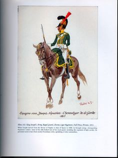 Foreign Troops: Plate 142: King Joseph's Army, Royal Guard, Chevau-Léger Regiment, Full Dress, Private, 1811.