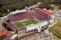 Ole Miss - University of Mississippi Rebels - aerial Vaught Hemingway Stadium