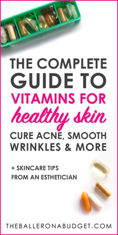 You might already know that a proper diet can help with achieving better skin. But what about adding vitamins and supplements to your skincare regimen? This is the complete guide to vitamins from iHerb to beat acne, smooth wrinkles and more, as told Natural Hair Mask, Natural Skin, Natural Beauty, Natural Makeup, Skin Care Regimen, Skin Care Tips, Skin Tips, Vitamins For Healthy Skin, Vitamins For Skin
