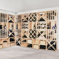 Modulares Weinregal-System VINCASA in 'Weinregale Holz'