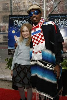 André Benjamin and Dakota Fanning at event of Charlotte's Web