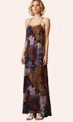 Lizza Strappy Woven Maxi Dress