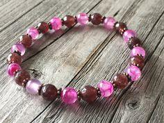 Gemstone woman bracelet, Bohemian bracelet, beaded stretch stacking bracelet, Woman gemstone jewelery, summer bracelet, Woman handmade gift door KennlyDesign op Etsy