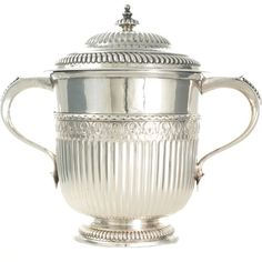 A fine and rare William III covered silver cup London 1699 by Richard Syng. View our collection of antique silver at www.rutherford.com.au Antique Engagement Rings, Antique Silver, Art Deco, London, Gemstones, Pearls, Antiques, Unique Jewelry, Stuff To Buy