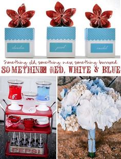 Red, white & blue in celebration of Veteran's Day wedding inspiration board http://nicolerenedesign.blogspot.com/2011/11/wedding-17-red-white-blue.html