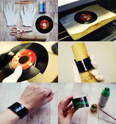 SOMETHiNG MONUMENTAL: DIY Vinyl Record Jewelry