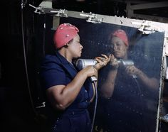 Women at Work WW2 Restored in Color #photography #historical