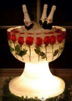 At Fancy Dress Patries we have beautiful Punch Bowls made from carved ice, filled with champagne and sparking wines. Decoration Buffet, Party Decoration, Wedding Decorations, Wedding Ideas, Quinceanera Decorations, Fall Wedding, Ice Bowl, Do It Yourself Wedding, Festa Party