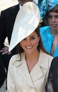 Catherine, Duchess of Cambridge leaves Canongate Kirk on the afternoon of the wedding of Mike Tindall and Zara Philips on July 30, 2011 in Edinburgh, Scotland.